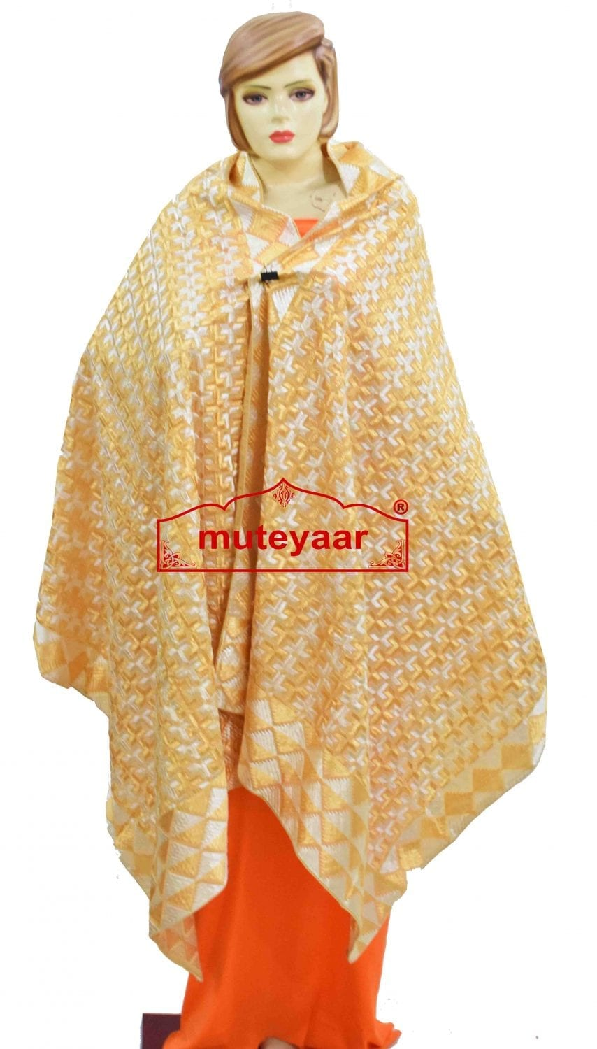PHULKARI Bagh Dupatta M/C Embroidered Party wear Cotton chunni D0933 1