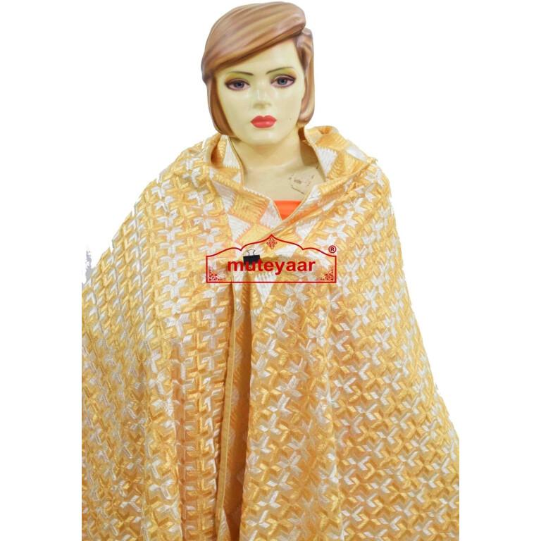 PHULKARI Bagh Dupatta M/C Embroidered Party wear Cotton chunni D0933