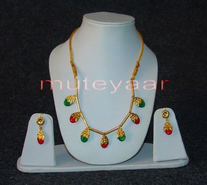 ORIGINAL GOLD PLATED Traditional Punjabi Jewellery Dakh set 1