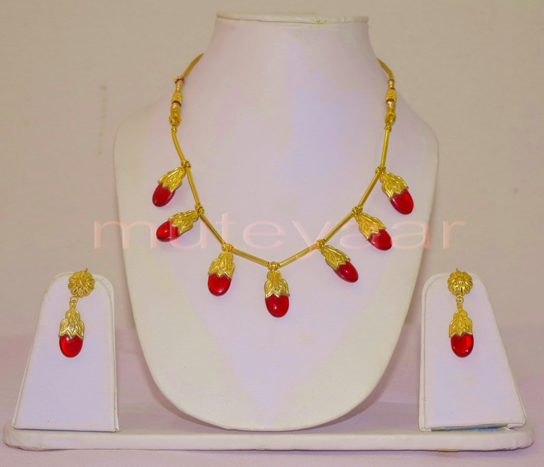 ORIGINAL GOLD PLATED Traditional Punjabi Jewellery Dakh set 3