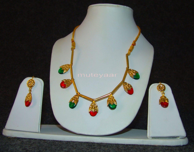ORIGINAL GOLD PLATED Traditional Punjabi Jewellery Dakh set 4