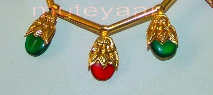 ORIGINAL GOLD PLATED Traditional Punjabi Jewellery Dakh set 5