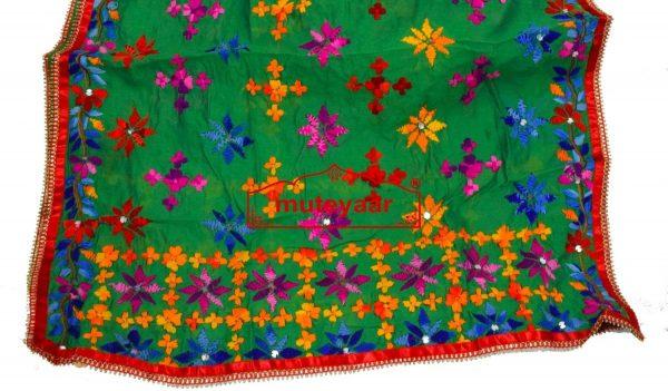 Party Wear Jaam Cotton Hand Embroidered Salwar kameez stole suit set F0762