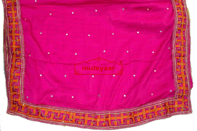 Party Wear Jaam Cotton Hand Embroidered Salwar kameez stole suit set F0763 3