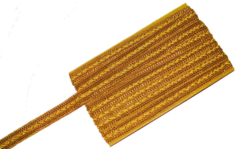 One Inch Wide Golden Zari Lace Kinari Roll of 9 meters LC099 1