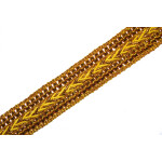 One Inch Wide Golden Zari Lace Kinari Roll of 9 meters LC099