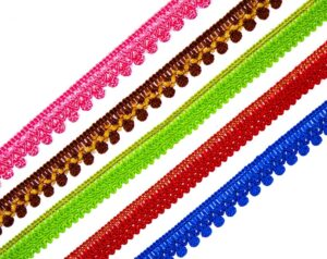 Thin Lace 10 meters Long Piece LC107 – All colours available – 12 mm / Half Inch Width