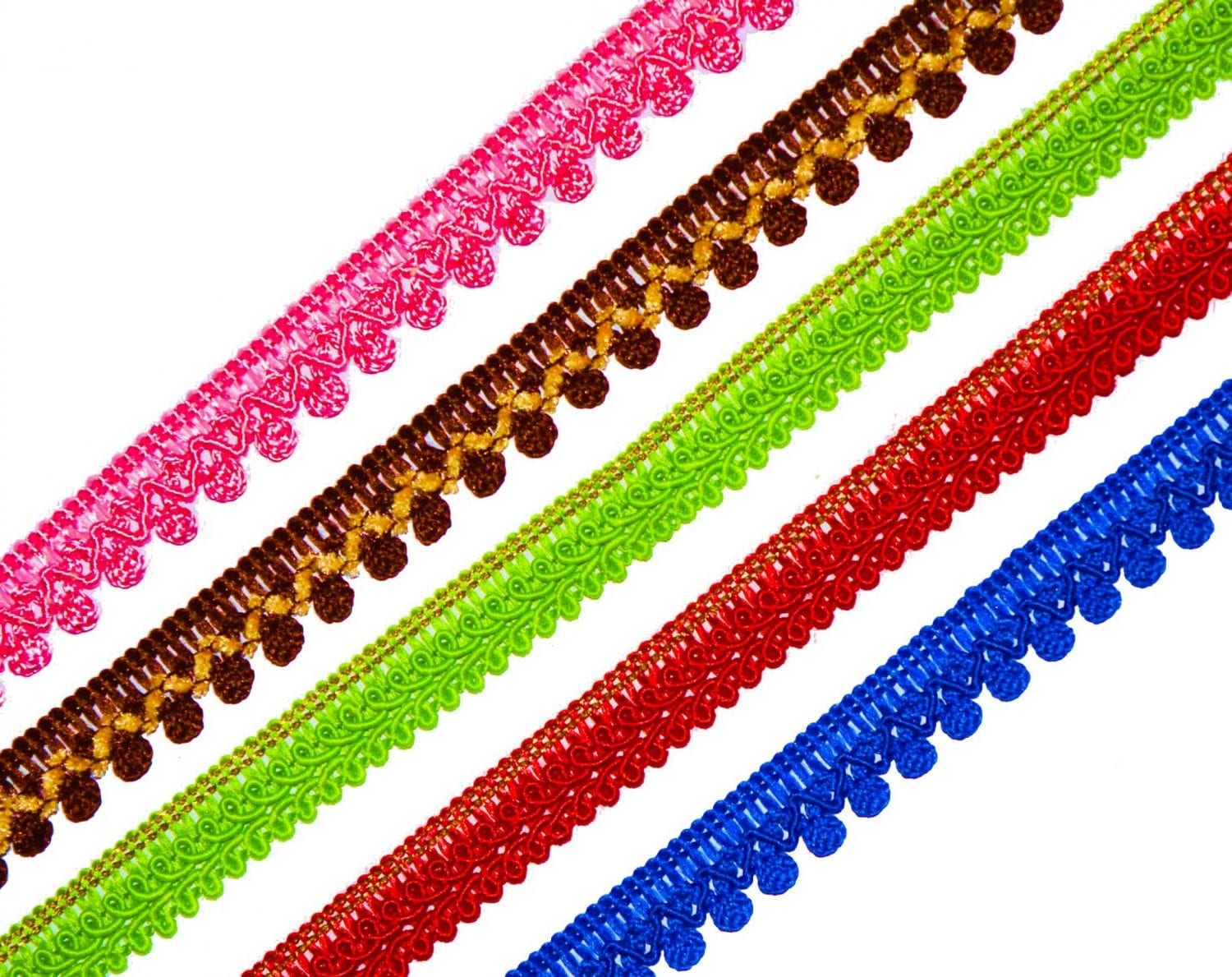 Thin Lace 10 meters Long Piece LC107 - All colours available - 12 mm / Half Inch Width 1