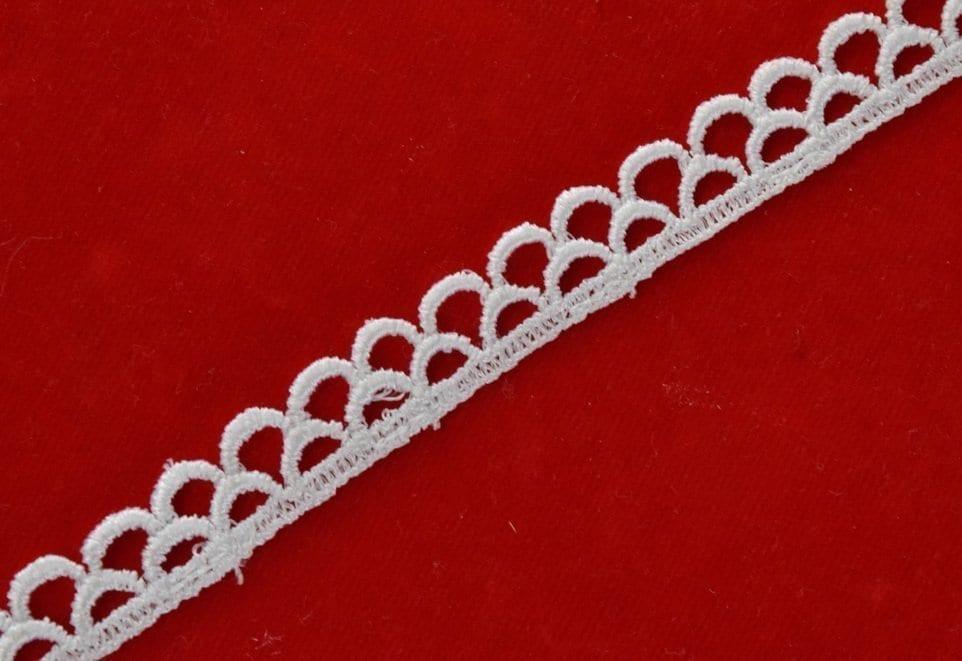White Crochet Lace half inch width Designer Kinari 11 meters Length Roll LC136 1