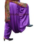 Maharani PURPLE Satin Silk Patiala Salwar