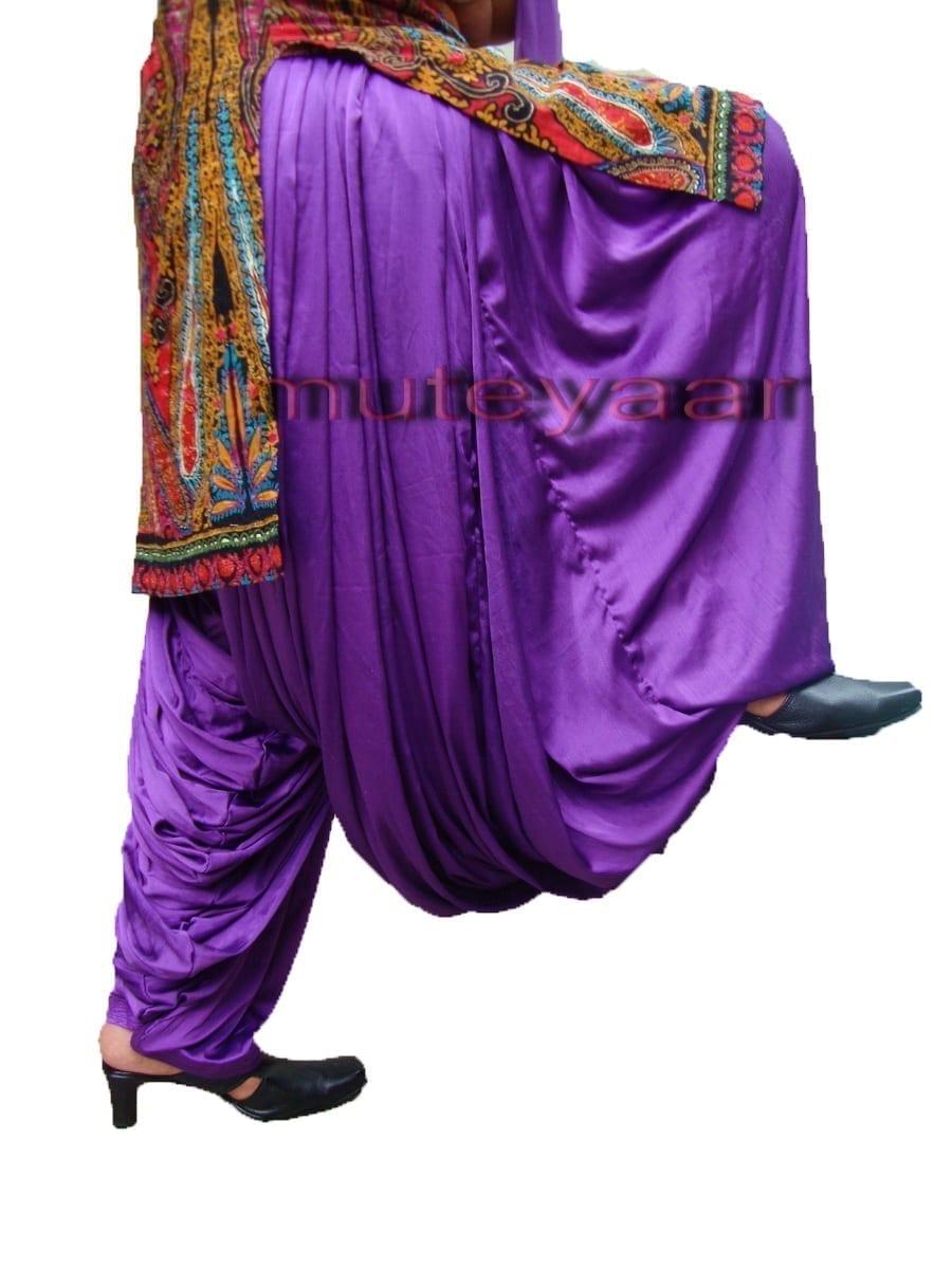 Maharani PURPLE Satin Silk Patiala Salwar 1