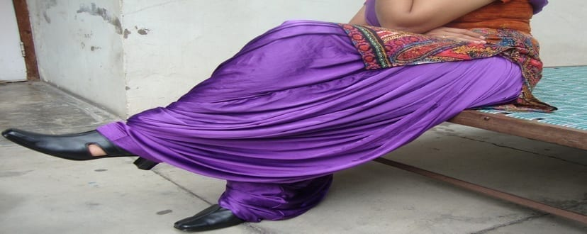 Maharani PURPLE Satin Silk Patiala Salwar 3