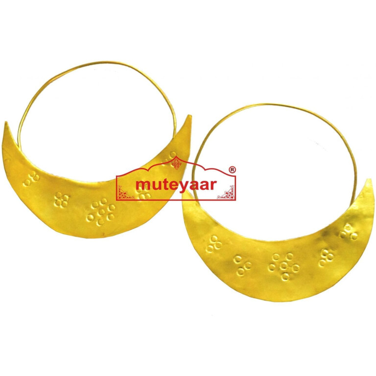 Chand Bali Traditional earrings set for Men for bhangra performance