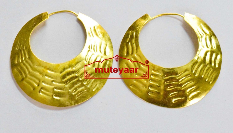 Fish scales design Big Bali Traditional earrings set for Men (2.5 Inch Diameter) 1