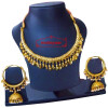 Gold Polish Traditional Punjabi jewellery Hasli Necklace & Lotan Bali set J0401