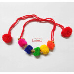 Ladies Sangeet Wedding Gana PomPom Wrist Band GN010 (12 pcs pack)