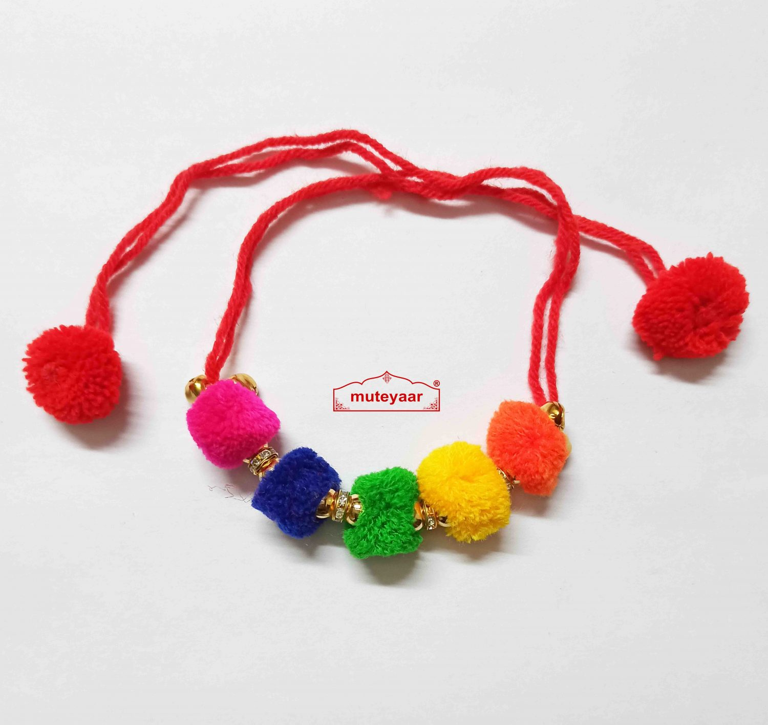 Ladies Sangeet Wedding Gana PomPom Wrist Band J0406 1