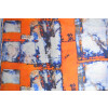 Orange COTTON PRINTED FABRIC for Multipurpose use (per meter price) PC362
