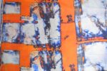 Orange COTTON PRINTED FABRIC for Multipurpose use PC362