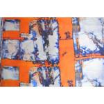 Orange COTTON PRINTED FABRIC for Multipurpose use PC362