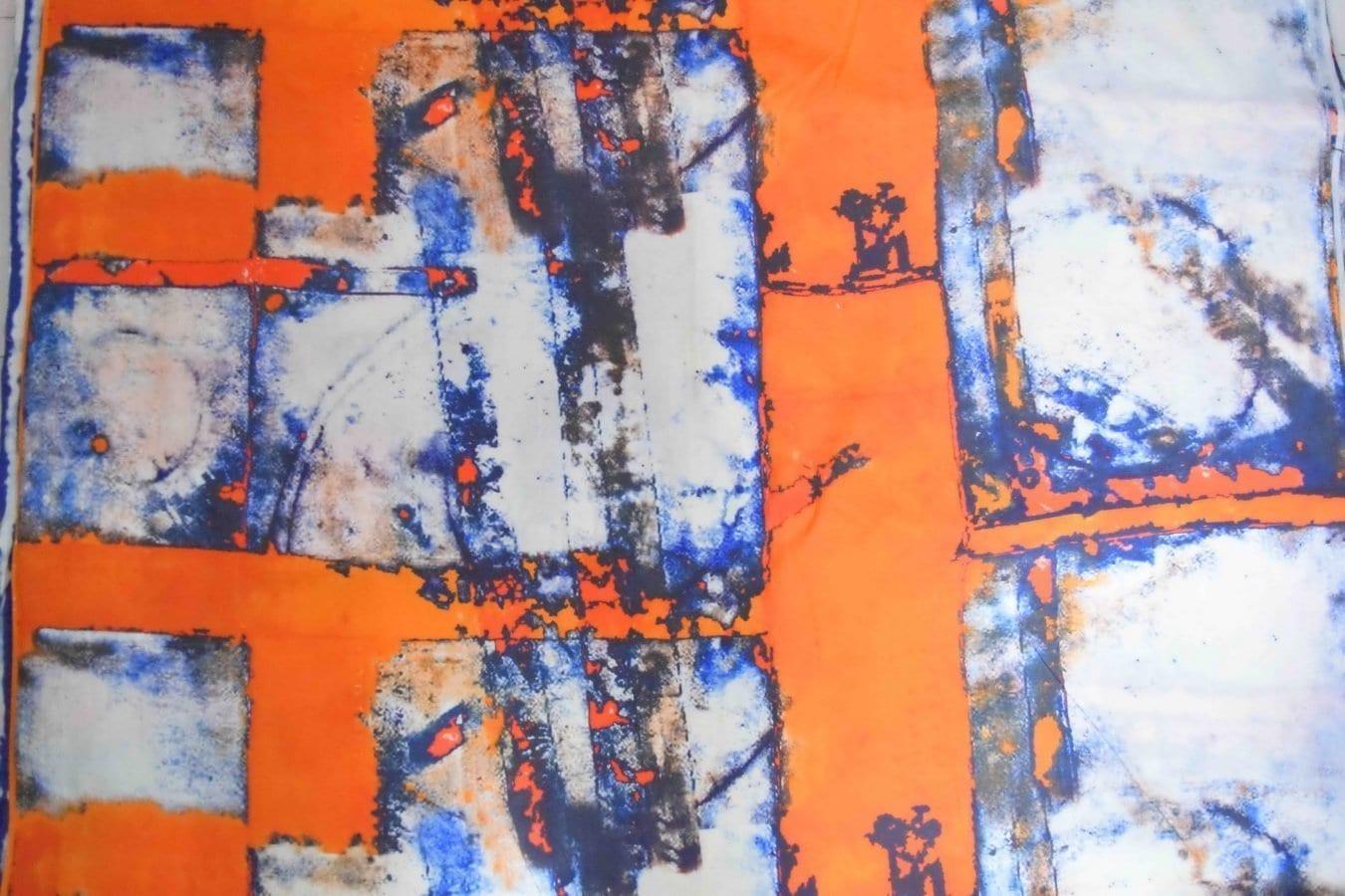 Orange COTTON PRINTED FABRIC for Multipurpose use PC362 1