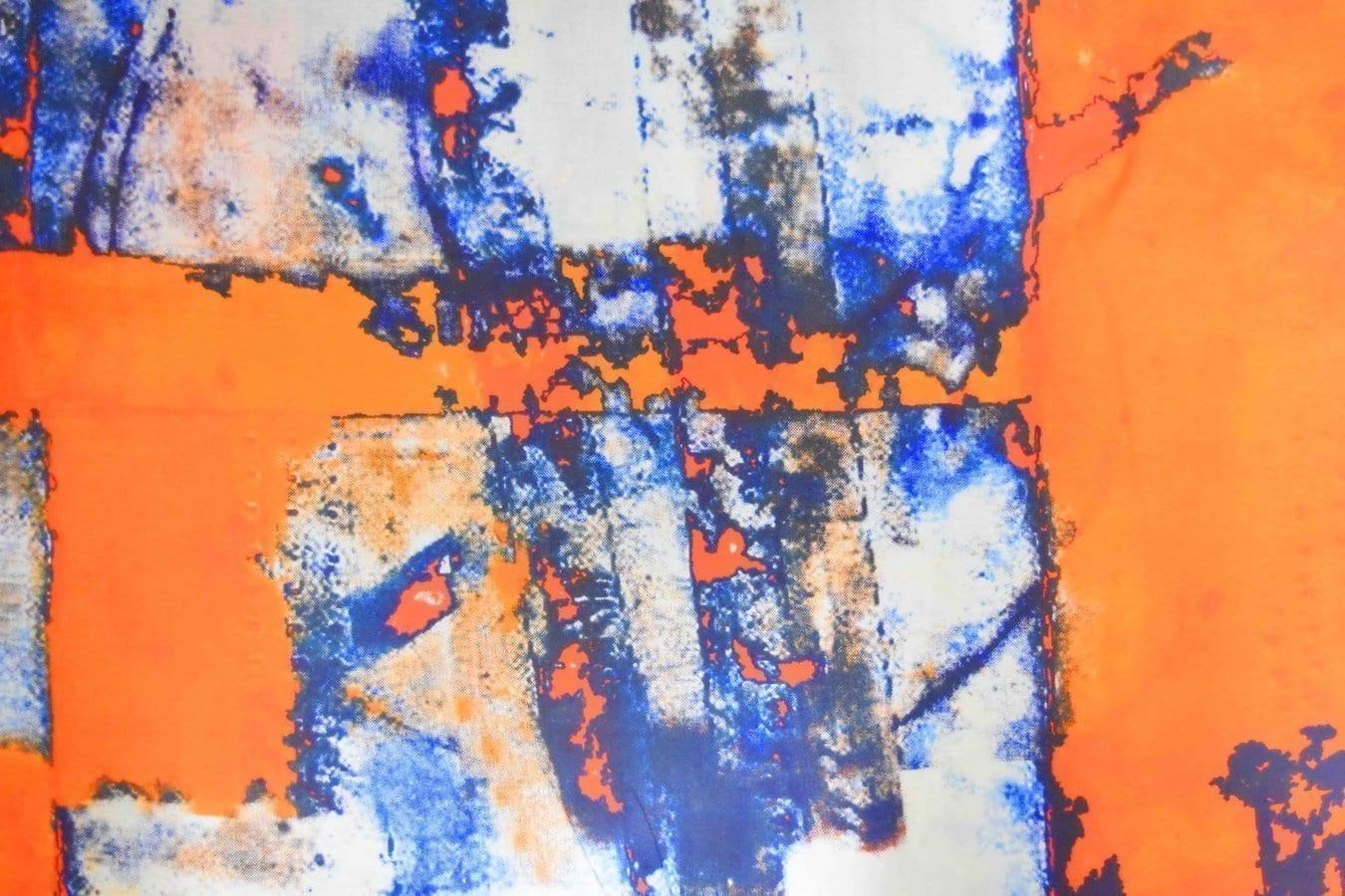 Orange COTTON PRINTED FABRIC for Multipurpose use PC362 2
