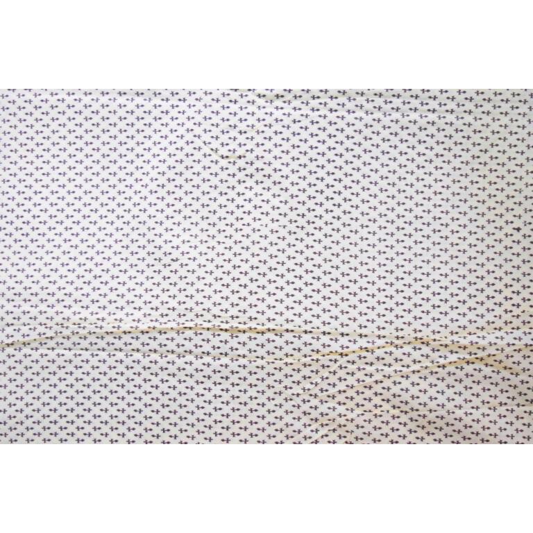 Cream base black small design COTTON PRINTED FABRIC for Multipurpose use (per meter price) PC365