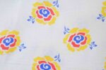White multi floral COTTON PRINTED FABRIC for Multipurpose use PC368