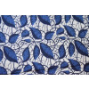 navy blue leaves design COTTON PRINTED FABRIC for Multipurpose use (per meter price) PC374