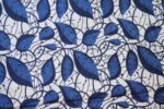 navy blue leaves design COTTON PRINTED FABRIC for Multipurpose use PC374