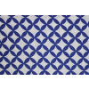 Dark Blue / white COTTON PRINTED FABRIC for Multipurpose use (per meter price) PC378