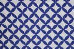 Dark Blue / white COTTON PRINTED FABRIC for Multipurpose use PC378