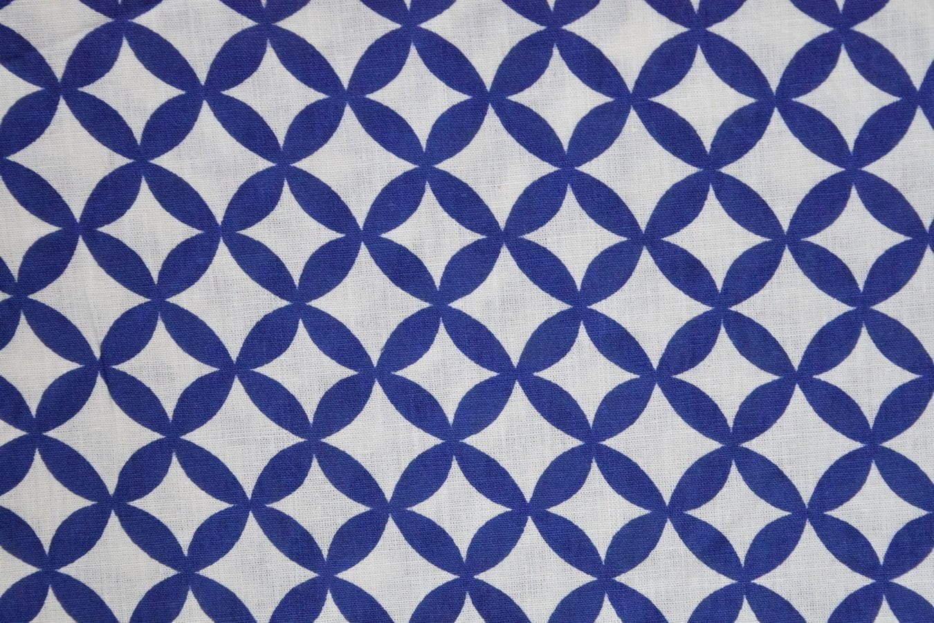 Dark Blue / white COTTON PRINTED FABRIC for Multipurpose use PC378 1