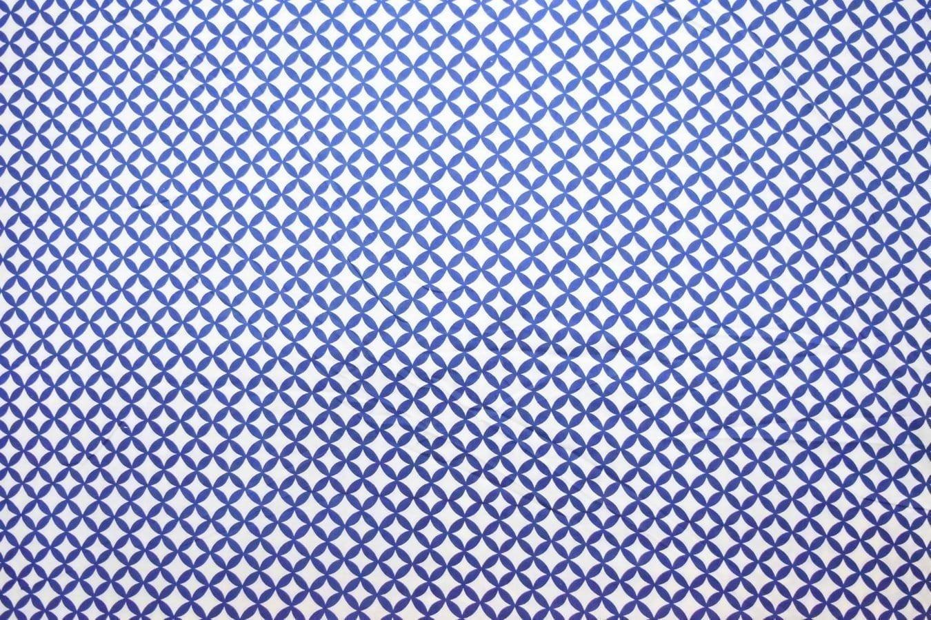 Dark Blue / white COTTON PRINTED FABRIC for Multipurpose use PC378 2