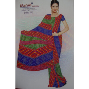 Printed casual Wear Faux georgette Saree for daily wear Sari 15M006