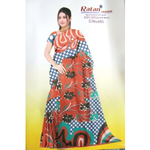 Printed casual Wear Faux georgette Saree for daily wear Sari 1M978