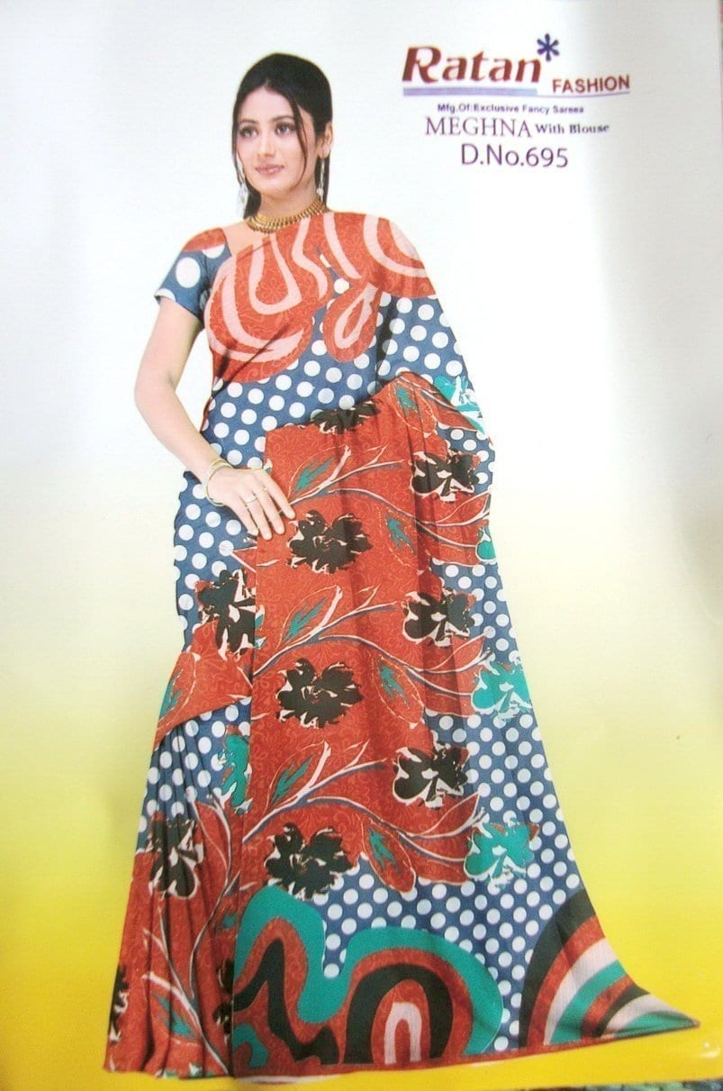 Printed casual Wear Faux georgette Saree for daily wear Sari 1M978 1