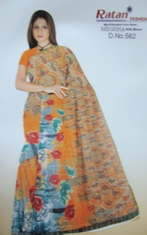 Printed daily wear Faux georgette Saree for casual wearing 2M439