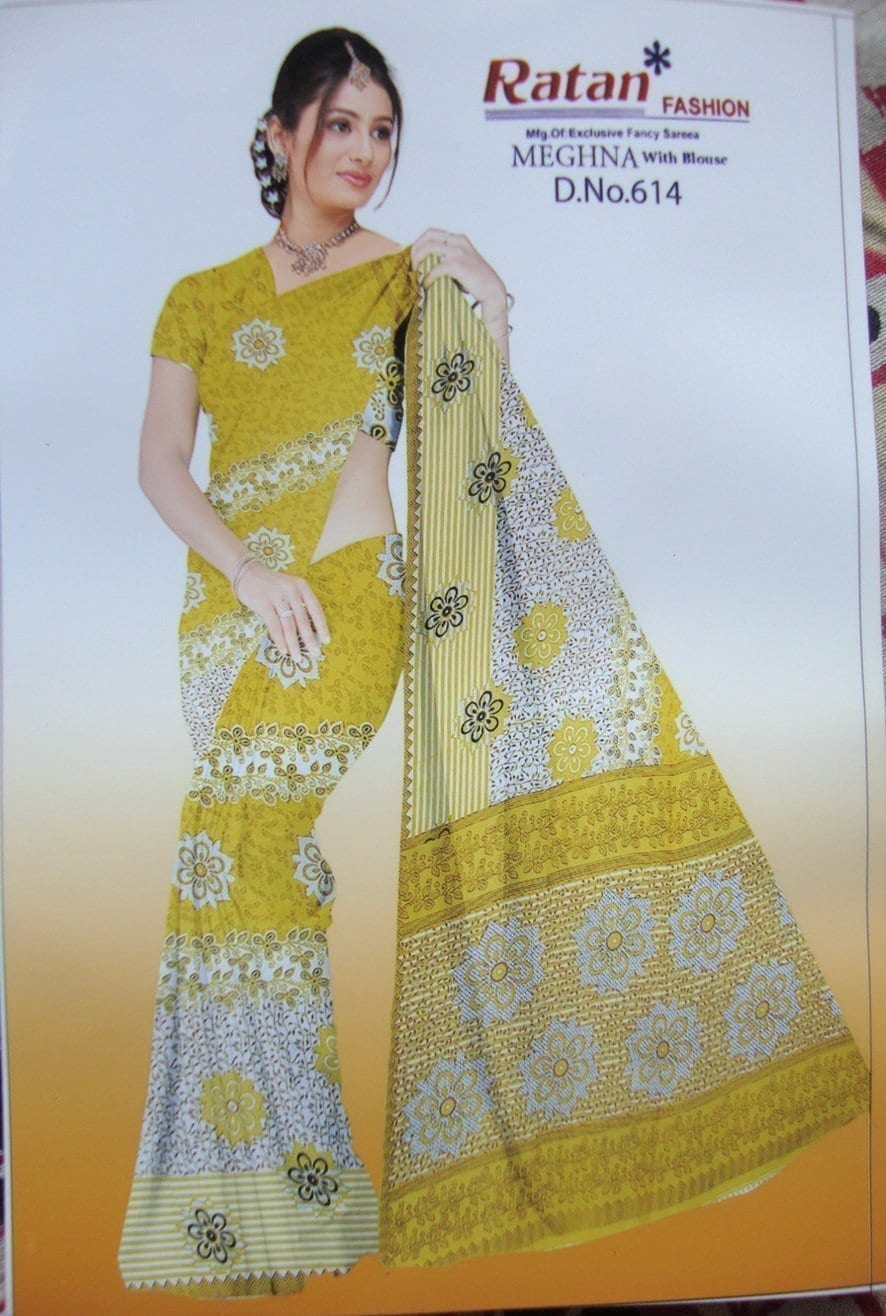 Printed casual Wear Faux georgette Saree for daily wear 8M237 1