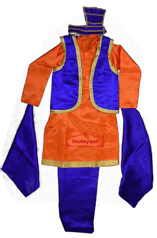 Kids Bhangra Costume Outfit Fancy Dress custom made 1