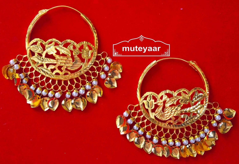 Morni Handmade Earrings 24 ct. Gold Plated Punjabi Traditional J0408 1