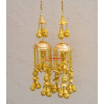 Kaleera Gold Polished Traditional Ghungroo For The PunjabI Bride J0906