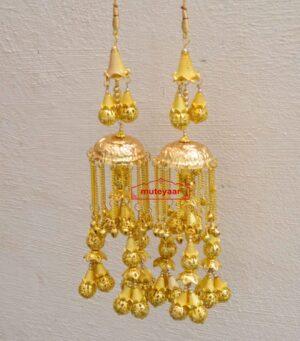 Kaleera Gold Polished Traditional Ghungroo For The PunjabI Bride J0906