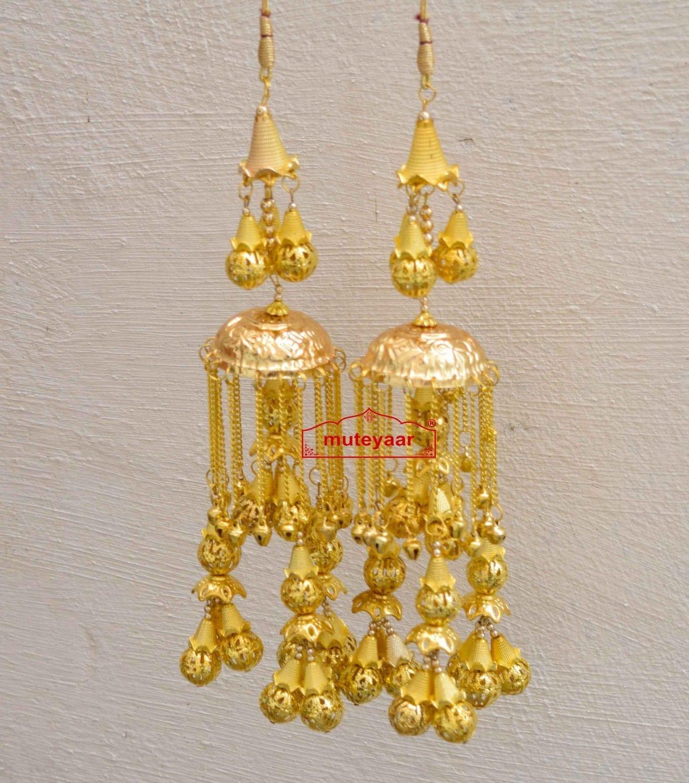 Kaleera Gold Polished Traditional Ghungroo For The PunjabI Bride J0906 1