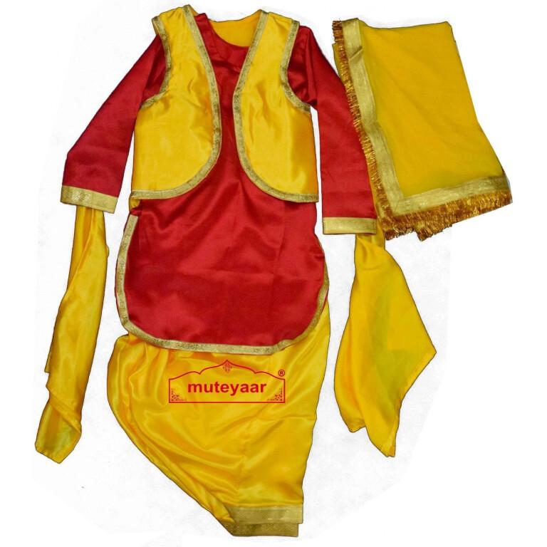 Girl's Bhangra Giddha Outfit Costume Fancy Dress - custom made