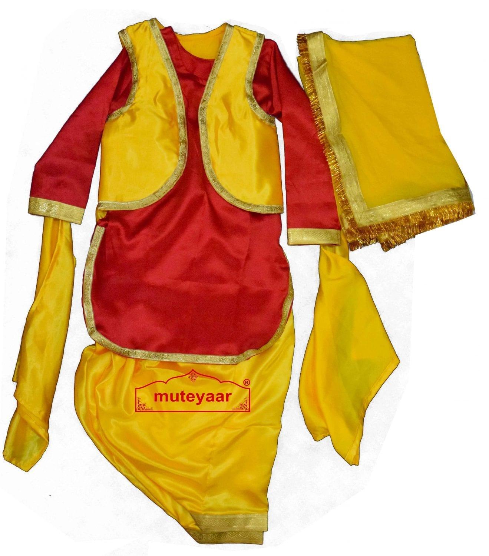 Girl's Bhangra Giddha Outfit Costume Fancy Dress - custom made 1
