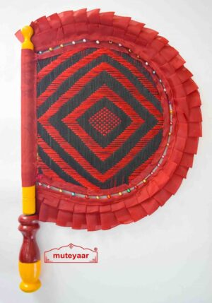 Traditional Punjabi Frill Pakhi Hand Fan size 16 inch length T0214
