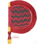 Traditional Punjabi Frill Pakhi Hand Fan size 16 inch length T0217