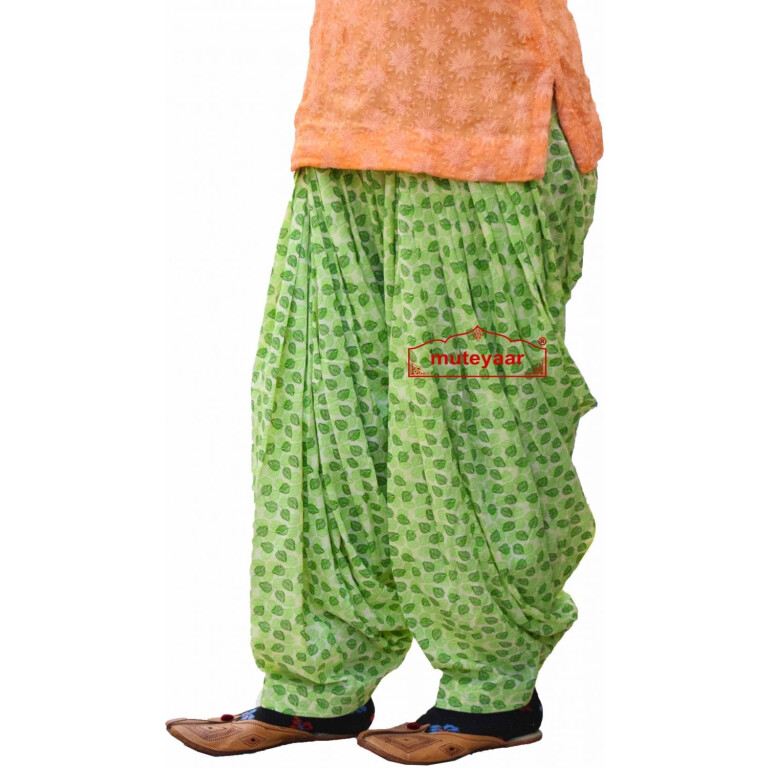 Printed Full Patiala Salwar Limited Edition 100% Pure Cotton Shalwar PPS250
