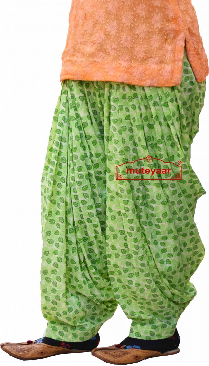 Printed Full Patiala Salwar Limited Edition 100% Pure Cotton Shalwar PPS250 1